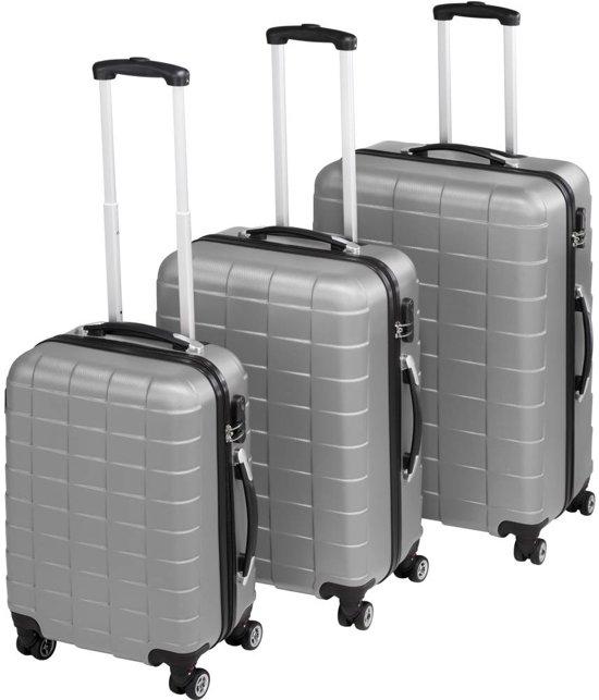 TecTake - kofferset Trolleyset 3-dlg hardshell zilver - 402672