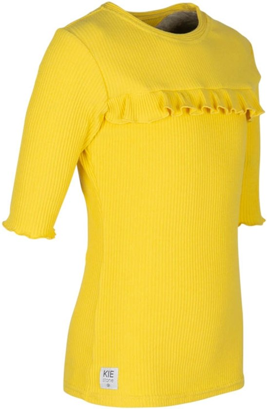 842420fa6a3 bol.com   KIE stone PS594 Meisjes Shirt - Geel - Maat 98-104 - 98/104