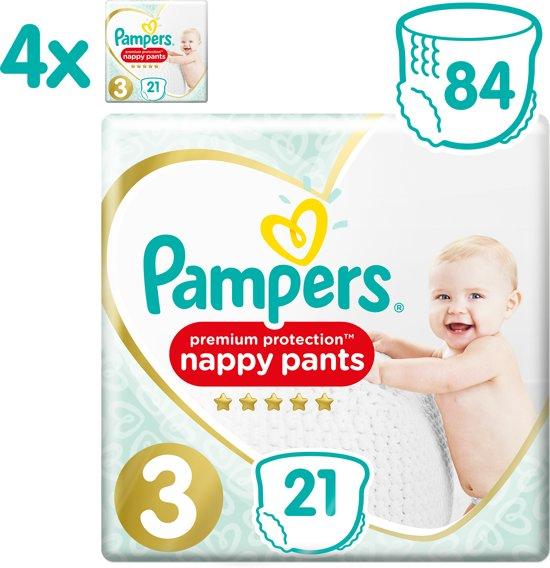 Pampers Premium Protection Pants Luierbroekjes - Maat 3 (6-11 kg) - 4x21 stuks