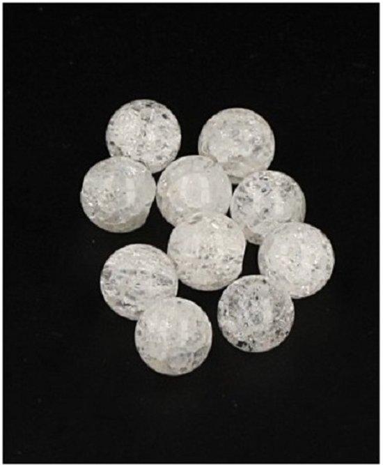 Bergkristal Crackle Kralen (10 stuks – 6 mm)