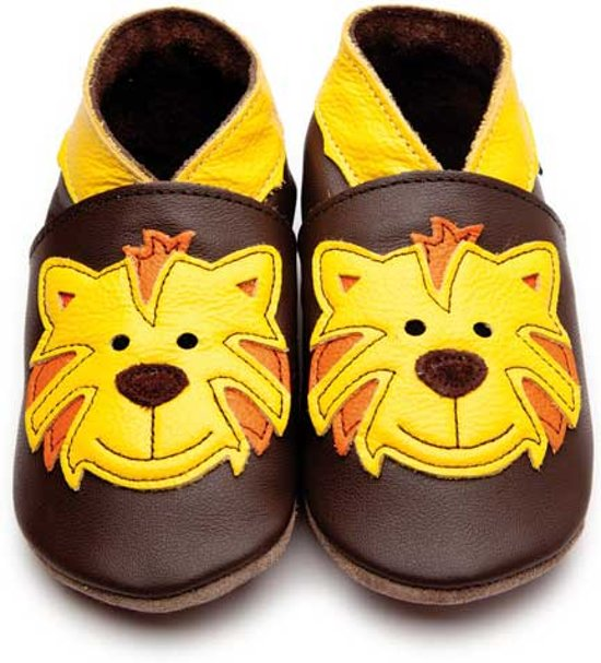 Inch Blue babyslofjes tommy tiger chocolate yellow maat 5XL (20 cm)