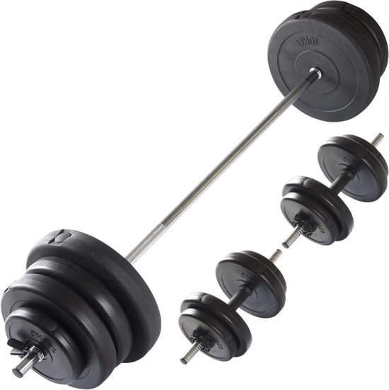VirtuFit Halterset 60,5 kg - Dumbbells en Barbell - Verstelbaar