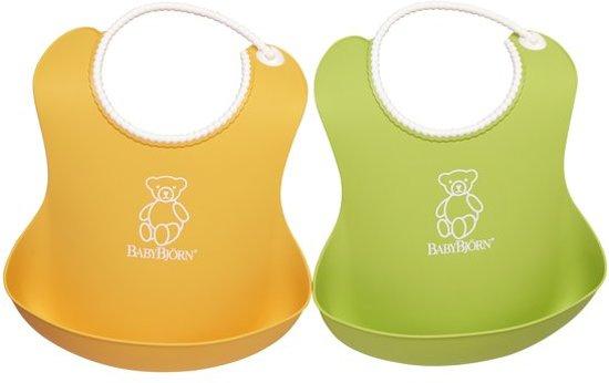 BabyBjörn Zachte Slab 2-pack - Groen/Geel