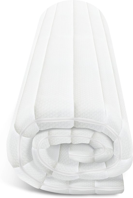 Topdekmatras - 140x190 - traagschuim - premium tijk - 5 cm hoog