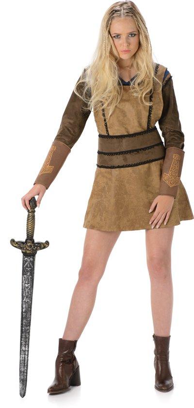 Bruin Viking kostuum voor vrouwen  - Verkleedkleding - Small
