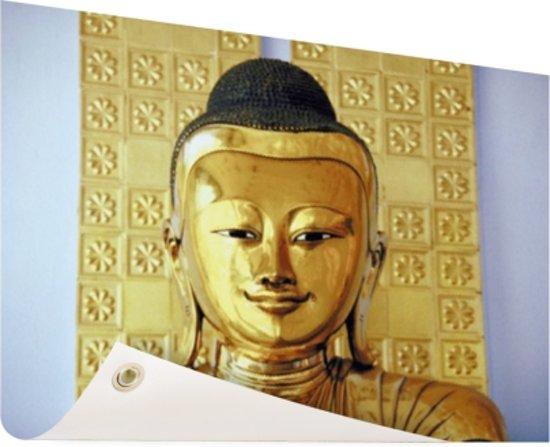 Boeddha Beelden Voor De Tuin.Bol Com Gouden Boeddha Beeld Tuinposter 60x40 Cm Foto Op