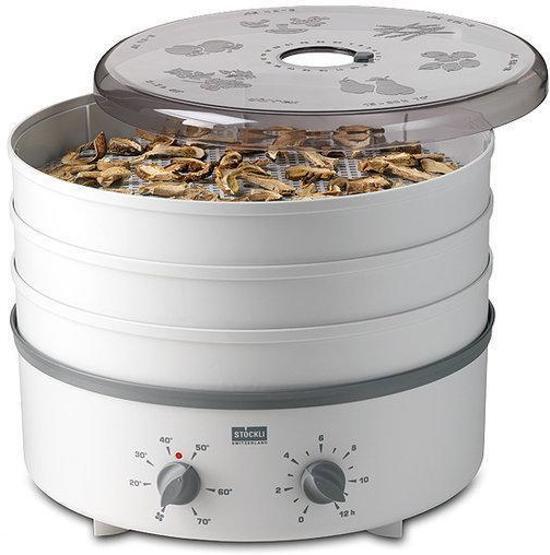 Stöckli Ovens Dehydrator Voedseldroger 3 Kunststof Roosters en Tijdsklok