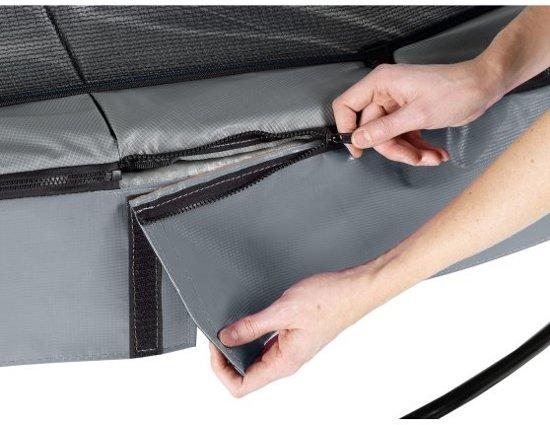 EXIT Elegant trampoline ø427cm met veiligheidsnet Deluxe - grijs