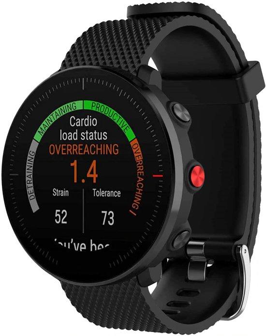 70e794533af Siliconen Horloge Band Voor Polar Vantage M - Armband / Polsband / Strap  Sportband - Zwart