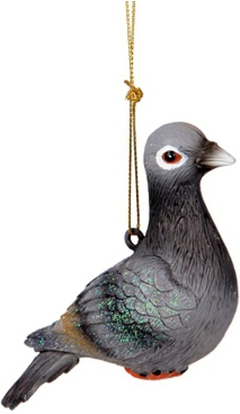 bol.com | Hangdecoratie grijze duif 12 cm