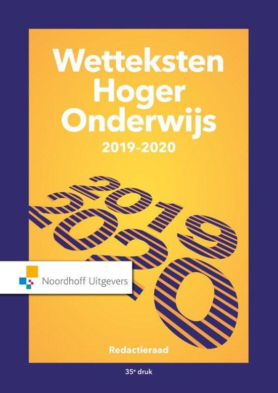 Boek cover Wetteksten hoger onderwijs 2019-2020 van Uittenbogaard (Paperback)