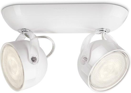 philips myliving dyna plafondlamp 2 spots led wit. Black Bedroom Furniture Sets. Home Design Ideas