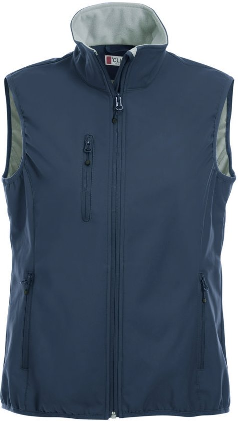 Clique Basic Softshell Ds Bodywarmer Donker Navy maat XS