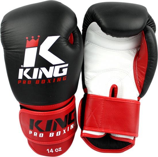 King Bokshandschoenen KPB/BG 1 Zwart / Rood-12 oz.