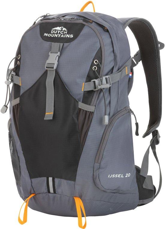 Dutch Mountains - Backpack IJssel - Rugzak 20 Ltr - Rugventilatie + Regenhoes - Zwart