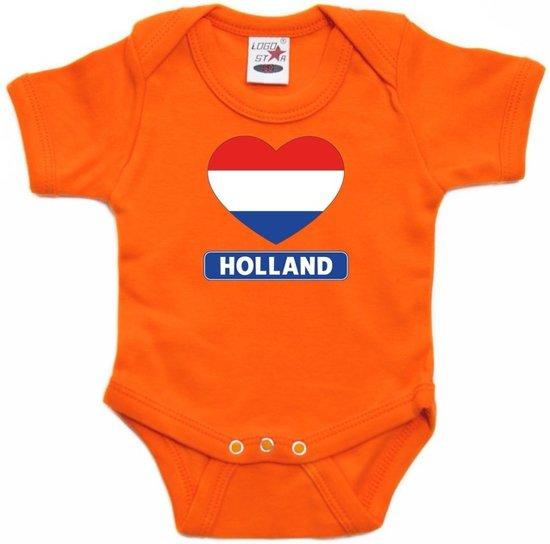 Babykleding 56.Bol Com Oranje Rompertje Holland Hart Vlag Baby Oranje