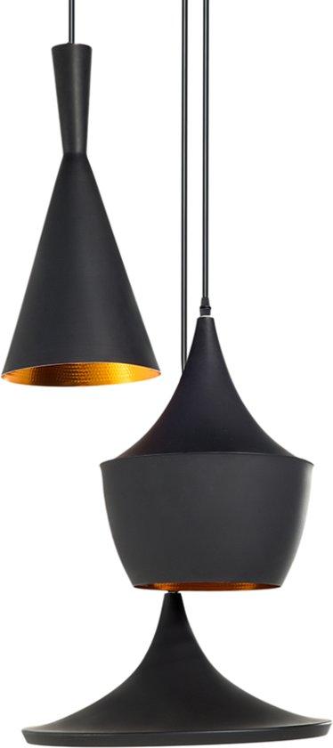 lumenzy triple hanglamp zwart goud. Black Bedroom Furniture Sets. Home Design Ideas