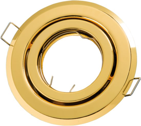 LED line Inbouwspot - Rond - Kantelbaar - GU5.3 Fitting - Ø 100 mm - Goud