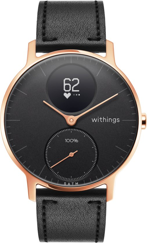 Withings Steel HR - Hybride smartwatch - Roségoud/Zwart - 36mm