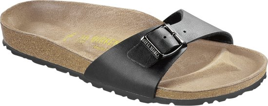 Birkenstock Madrid Smal Dames Slippers - Black