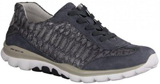 Gabor Rollingsoft Dames Lage sneakers Blauw Maat 39