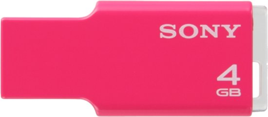 Sony USM4GM Usb 4gb Micro Vault Ultra Pink