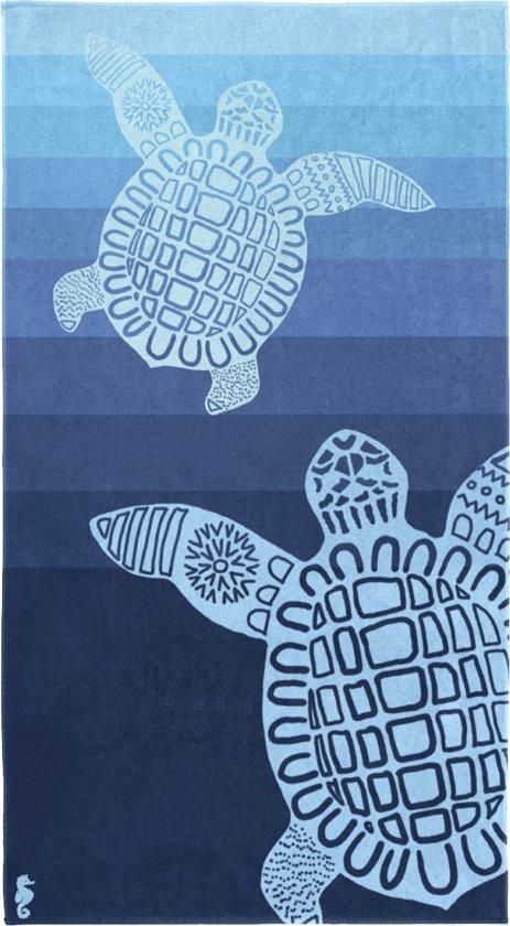 Seahorse Turtle - Strandlaken - 100 x 180 cm - Blue