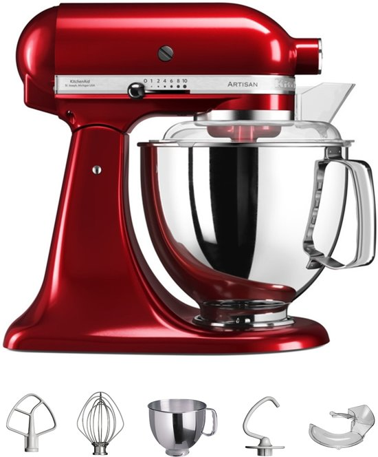 kitchenaid artisan 5ksm150pseer keukenmachine keizer rood. Black Bedroom Furniture Sets. Home Design Ideas