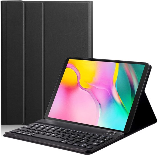 Lunso - afneembare Keyboard hoes - Samsung Galaxy Tab S5e 10.5 - Zwart