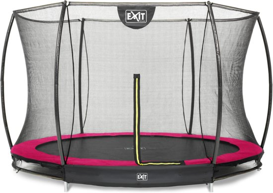 EXIT Silhouette inground trampoline ø305cm met veiligheidsnet - roze