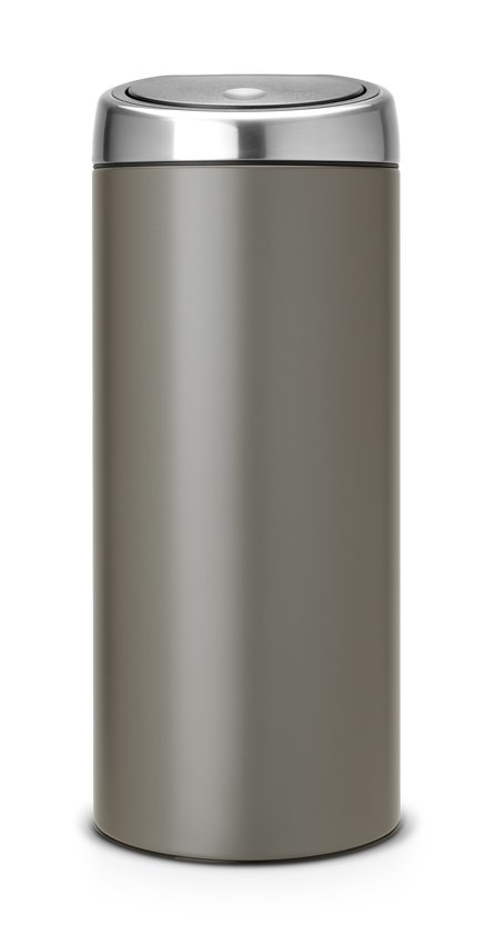 Brabantia Touch Bin Afvalemmer 30 L Mat Rvs.Brabantia Touch Bin Prullenbak 30 L Platinum