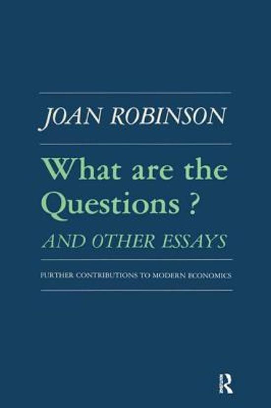 robinson an essay on marxian economics