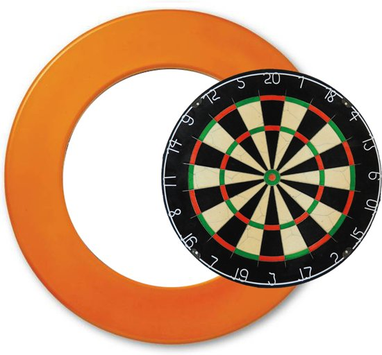 Combideal – Dragon plain Bristle - dartbord - plus - dartbord surround ring - Dutch Orange - Dragon darts - Oranje