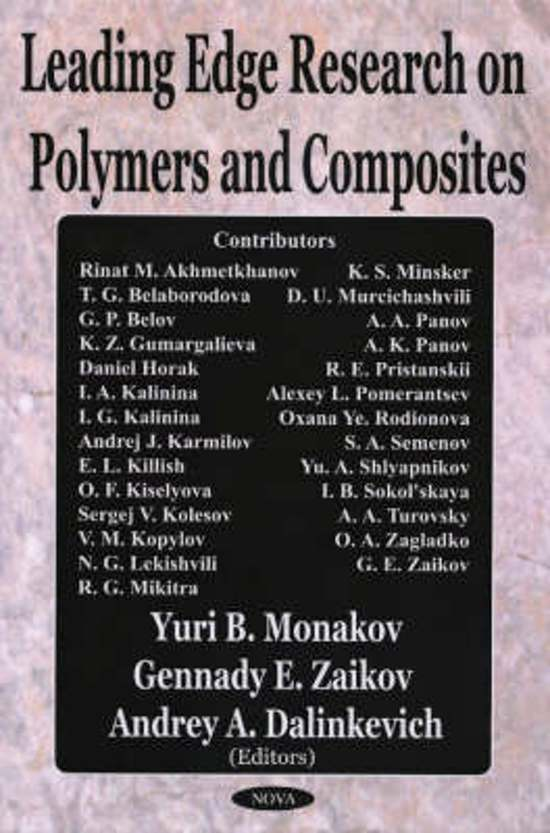 Leading Edge Research on Polymers & Composites