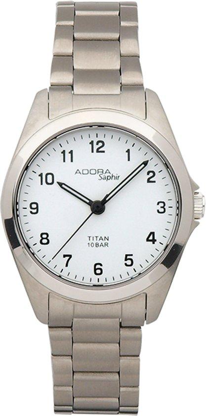 Titanium horloge met Saffier glas  van het merk Adora -AS4295