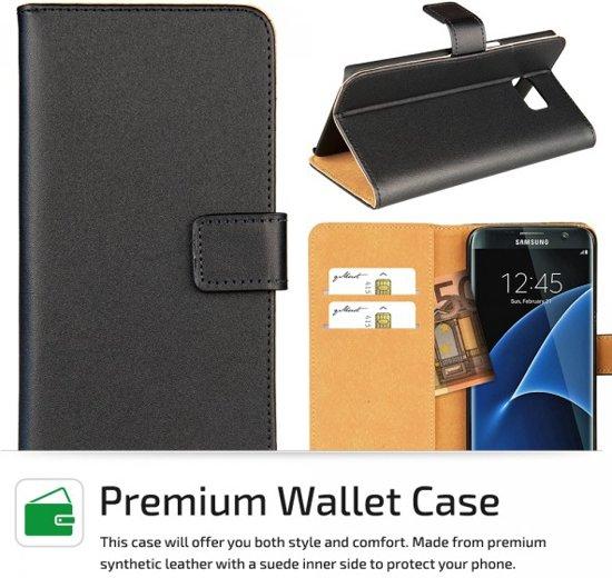 qMust Samsung Galaxy S7 edge Elegant Wallet Case - met stand - Black in Vaux-Chavanne