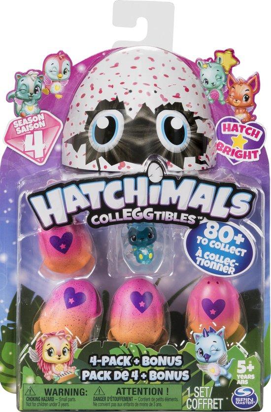 Afbeelding van Hatchimals CollEGGtibles 4 Pack met bonus - Seizoen 4 speelgoed