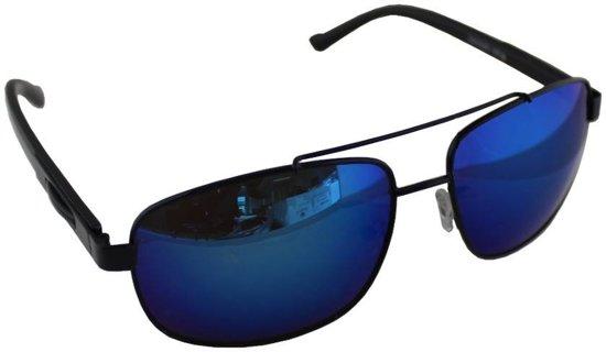 1a8d78f8e1a095 Zonnebril UV 400 Rechthoek Zwart Blauw