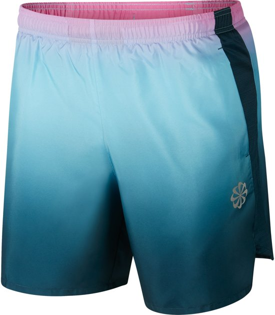 Nike Challenger Short 7In Pr Sportbroek Heren - Blue Gaze/Nightshade/(Reflective Silv) - Maat L