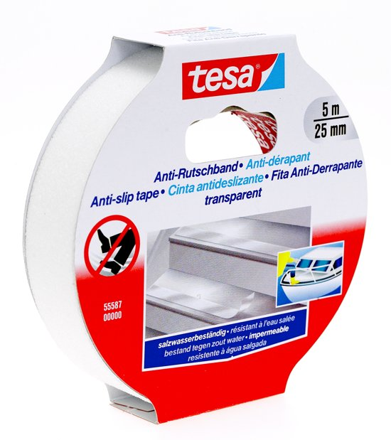 Tesa - 55587 - anti-slip tape 25mm x 5mtr transparant