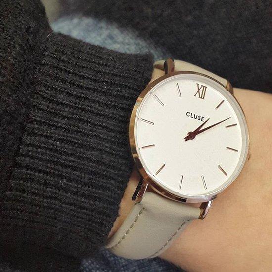 Cluse Minuit Leather Horloge