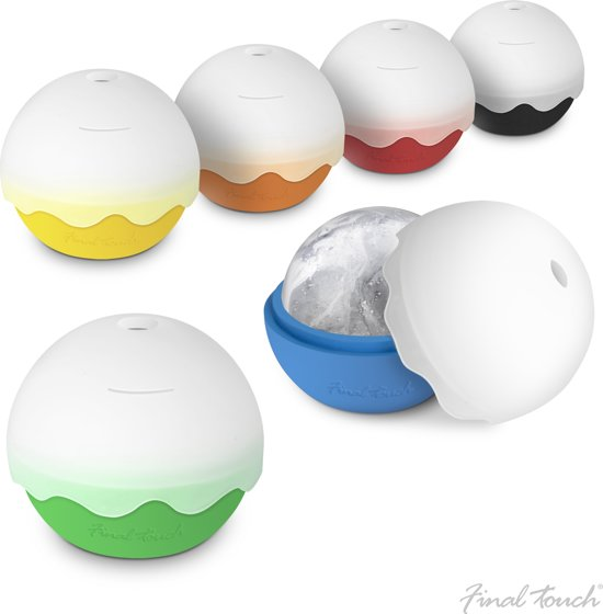 Final Touch Ice Ball Drinks Mallen - Set van 6