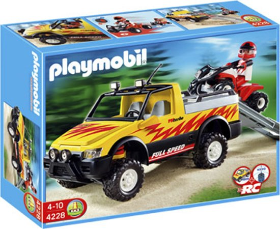 Playmobil Pick Up met Quad - 4228
