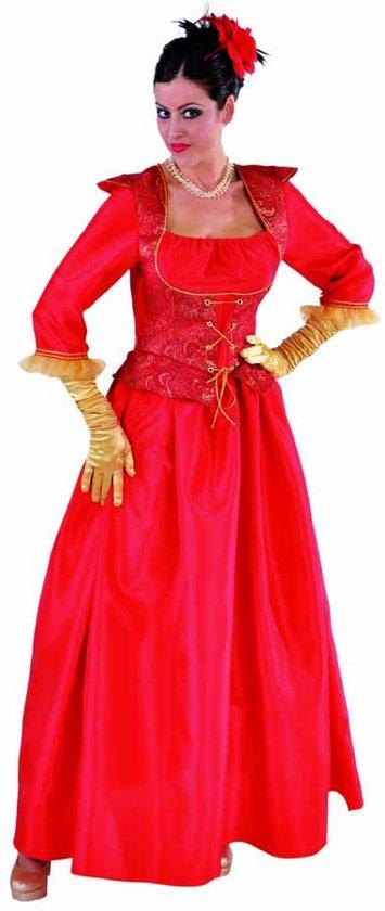 Rode Dames Jurk.Bol Com Luxe Rode Markiezin Jurk Met Goud Brocaat
