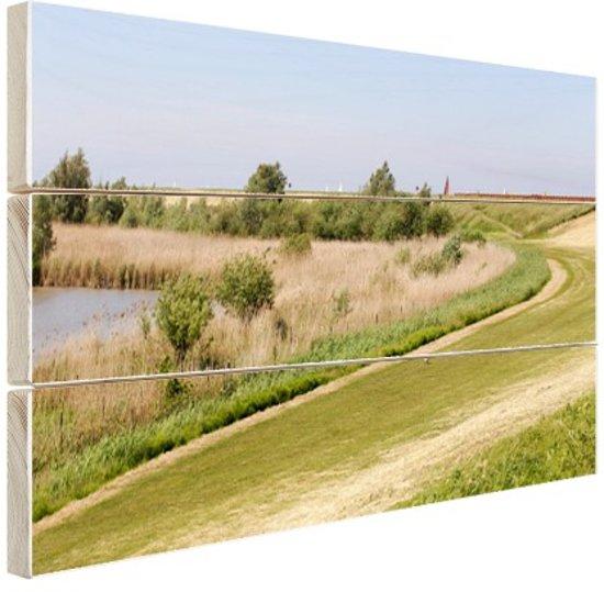 Natuurgebied in Europa Hout 80x60 cm - Foto print op Hout (Wanddecoratie)