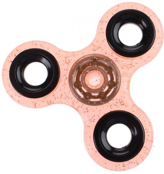 Afbeelding van het spel Toi-toys Fidget Spinner Glitter Oranje 8 Cm