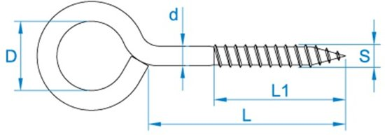 schroefoog zwaar 45x14 (100st.)