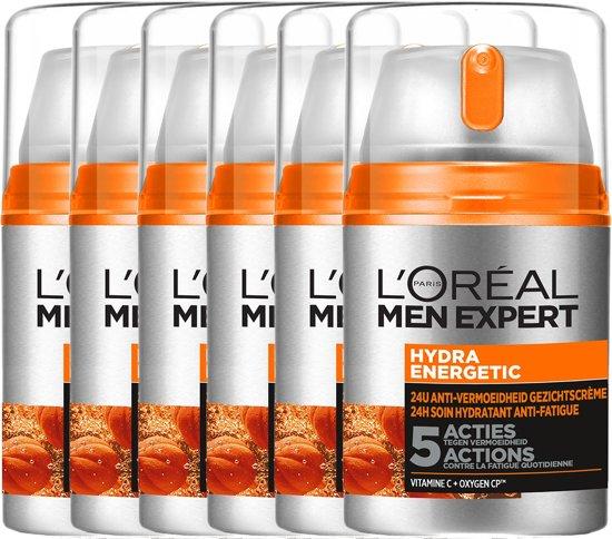 L'Oréal Paris Men Expert Hydraterende Gezichtscrème - 6 x 50 ml - Voordeelverpakking