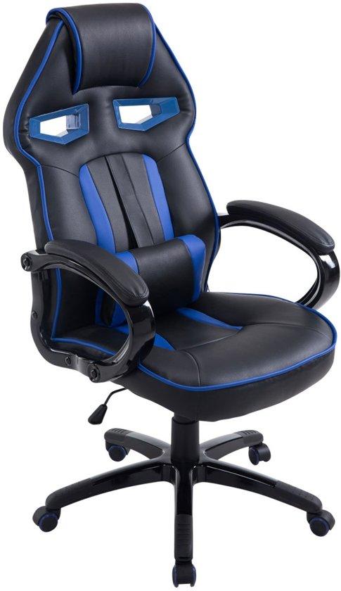 Clp DIESEL - Gaming bureaustoel - kunstleer - Zwart/blauw