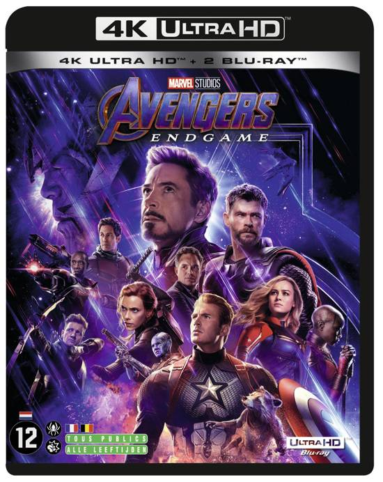 DVD cover van Avengers: Endgame (4K Ultra HD Blu-ray)